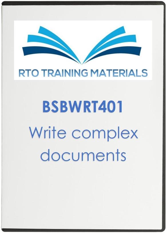 a write complex documents essay Human resources: write complex documents  write an essay or a report ( tafe nsw)  sample essay (charles darwin university.